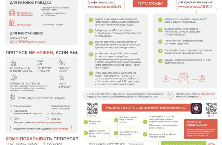 Как получить пропуск в Московской области