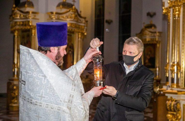 В Одинцово доставлен благодатный огонь
