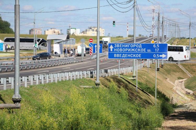 Новый участок ЦКАД открыли в Звенигороде