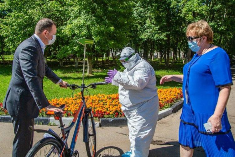 На работу — на велосипеде