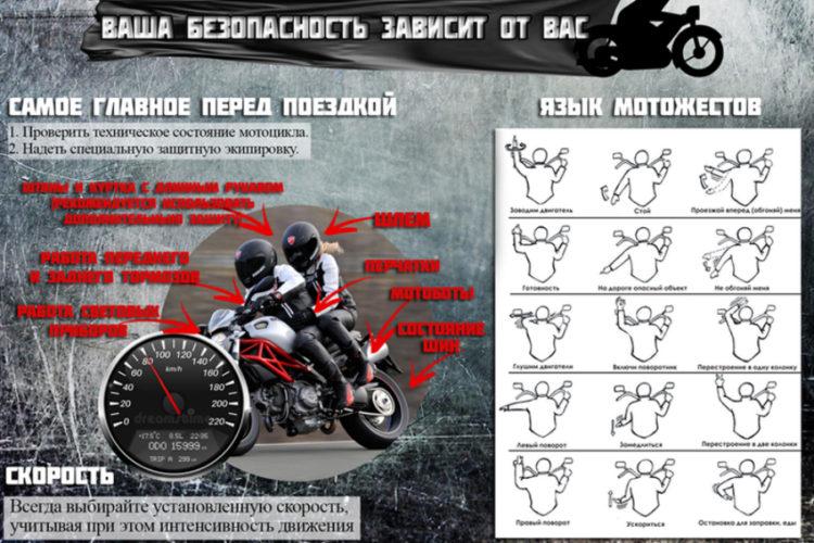 За рулём мотоцикла будьте особенно внимательны