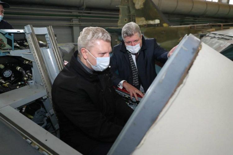 Открыт новый цех 121 авиационного ремонтного завода в Старом Городке
